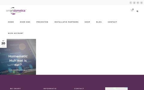 Screenshot of Blog smartdomotica.nl - Smart Domotica |   Blog - captured Oct. 19, 2018