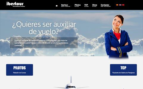 Screenshot of Home Page ibertour.com - Ibertour - Escuela de pilotos de aviación - Inicio - captured Sept. 30, 2014