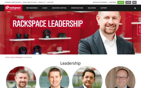 Screenshot of Team Page rackspace.co.uk - Leadership | Rackspace Hosting - captured Jan. 13, 2016