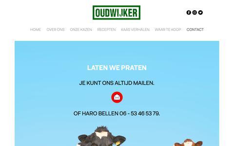 Screenshot of Contact Page oudwijker.nl - Oudwijker | CONTACT - captured Nov. 7, 2018