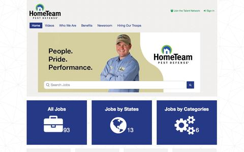 Screenshot of Jobs Page pestdefense.com - Pest Control Careers and Employment Opportunities | HomeTeam Careers - captured Oct. 31, 2014