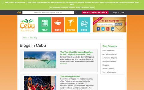 Screenshot of Blog ceburepublic.com - Cebu Blog - captured Oct. 28, 2014