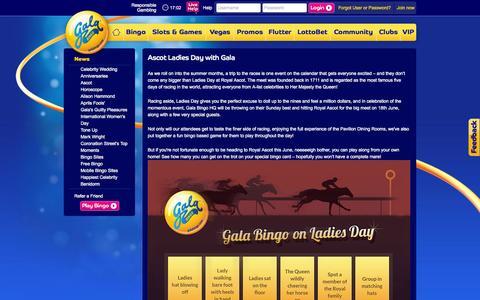 Screenshot of Press Page galabingo.com - Ascot - captured Nov. 11, 2015
