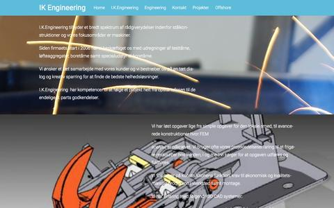 Screenshot of Home Page ik-e.dk - IK Engineering | Engineering Design Construction. We make the future. - captured Sept. 16, 2015