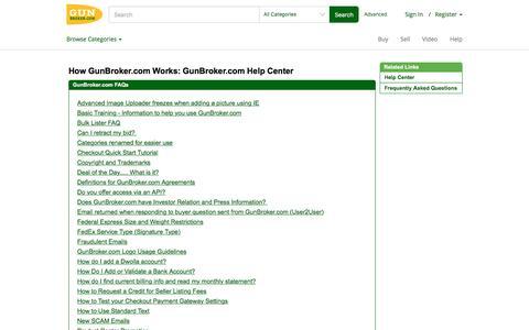 How GunBroker.com Works: GunBroker.com Help Center