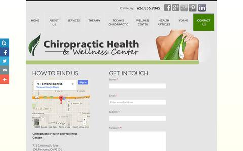 Screenshot of Privacy Page Contact Page chiropractichealthandwellnesscenter.com - Contact Us - captured Oct. 22, 2014