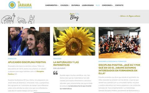 Screenshot of Blog ceieljarama.com - Blog - CEI El Jarama - captured Sept. 27, 2018