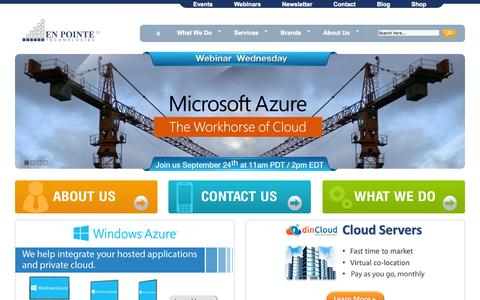 Screenshot of Home Page enpointe.com - IT Solutions - IT Solution Provider | En Pointe Technologies - captured Sept. 22, 2014