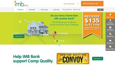 Screenshot of Home Page imb.com.au captured Oct. 23, 2015