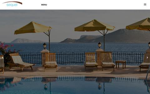Screenshot of Home Page sequelhotels.com - Sequel Hospitality | Hotels & Resorts, Hospitality Investments, Consulting - captured Oct. 27, 2017