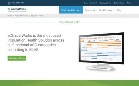 Population Health - eClinicalWorks