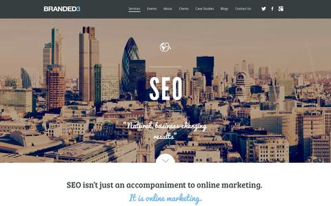 Screenshot of Services Page branded3.com - SEO Agency & Organic Search Engine Marketing Agency Leeds & London - captured Nov. 2, 2014