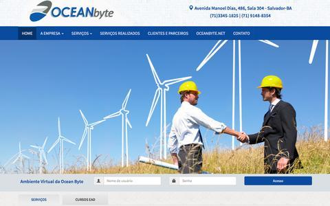 Screenshot of Home Page oceanbyte.com.br - Oceanbyte - Cursos - captured Sept. 18, 2016