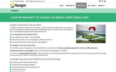 Screenshot of Jobs Page hexagonsearch.com - Hexagon   –  Careers - captured Nov. 2, 2014