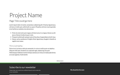 Screenshot of Privacy Page Contact Page fotoprom.nl - Page Title - My Project is coming soon - captured Oct. 27, 2014