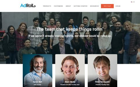 Screenshot of Team Page adroll.com - Meet the Team   AdRoll - captured June 8, 2016