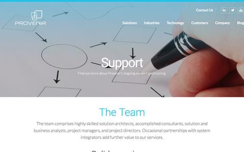 Screenshot of Support Page provenir.com - Support | Provenir - captured Dec. 14, 2015