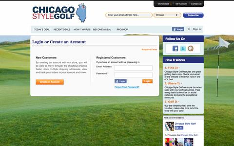 Screenshot of Login Page golfqpons.com - Customer Login - captured Oct. 2, 2014