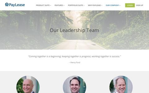 Screenshot of Team Page paylease.com - Our Leadership Team | PayLease - captured Aug. 14, 2019