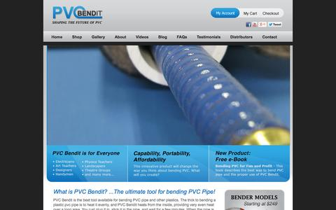Screenshot of Home Page Privacy Page pvcbendit.com - PVCBendit - The Best Tool For Bending PVC - captured Oct. 10, 2014