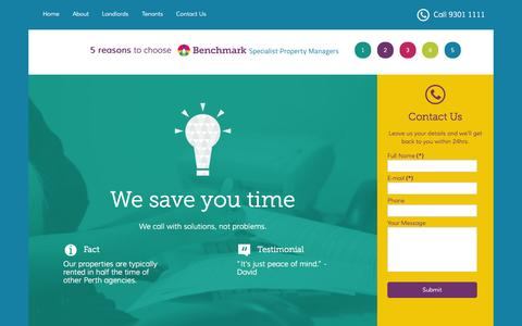 Screenshot of About Page benchmarkpm.com.au - About - captured Oct. 5, 2014