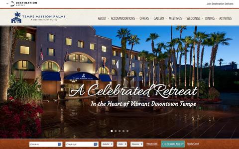 Screenshot of Home Page missionpalms.com - Hotels in Downtown Tempe AZ | Tempe Mission Palms Hotel & Conference Center | Phoenix Hotels - captured Dec. 20, 2015