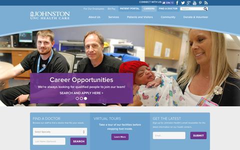 Screenshot of Home Page johnstonhealth.org - Johnston Health: Johnston County's Health Care System - captured June 8, 2017
