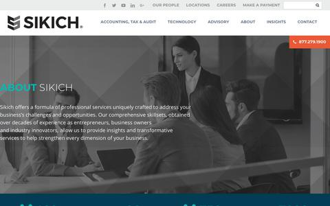 Screenshot of About Page sikich.com - About | Sikich LLP - captured Jan. 30, 2018