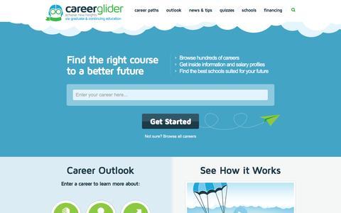 Screenshot of Home Page careerglider.com - Get Career Path Advice, Guidance, & Job Profiles >> Career Glider - captured Dec. 7, 2015
