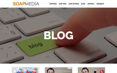 Screenshot of Blog soapmedia.ca - Blog - Current SEO & SEM News, Tips and Strategy - captured Sept. 30, 2017