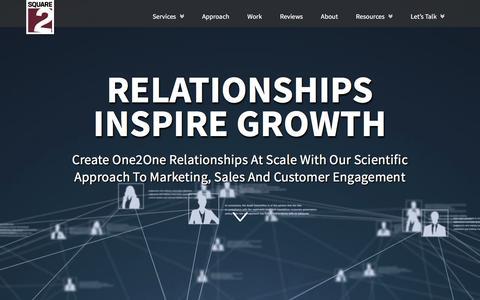 Screenshot of Home Page square2marketing.com - Digital, Demand Gen & Inbound Marketing Agency | Square 2 Marketing - captured July 8, 2019