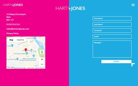 Screenshot of Contact Page hartandjones.com - Contact - Hart + Jones - captured Dec. 7, 2018