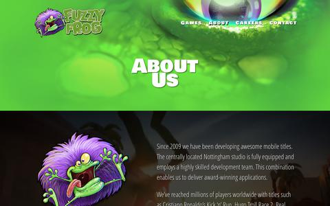 Screenshot of About Page Team Page fuzzy-frog.com - About | Fuzzy Frog Ltd - captured Oct. 14, 2017