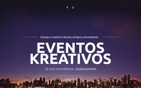 Screenshot of Home Page eventoskreativos.com - .: Eventos Kreativos Internacional - captured Dec. 13, 2018