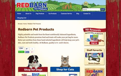 Screenshot of Products Page redbarninc.com - Redbarn Pet Products - Dog and Cat Products - RedBarn Pet Products - captured Oct. 26, 2014