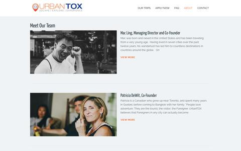 Screenshot of Team Page urbantox.com - The UrbanTOX Team | Experiential Learning through Urban Encounters - captured Oct. 9, 2014