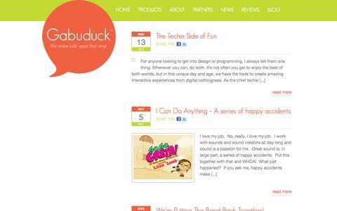Screenshot of Blog gabuduck.com - Gabuduck Blog   Gabuduck - captured Sept. 16, 2014