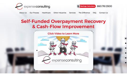 Screenshot of Home Page expenseconsulting.com - Overhead Cost Reduction | Expense Consulting - captured Sept. 1, 2017