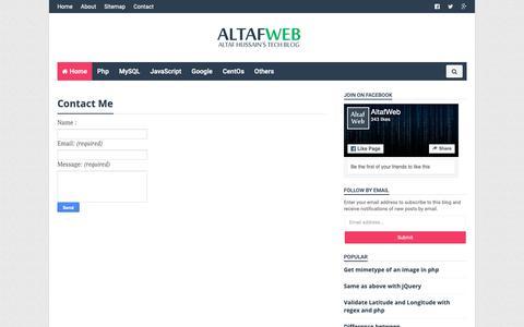 Screenshot of Contact Page altafphp.blogspot.com - Contact Me - Altaf Hussain's Blog - captured Oct. 18, 2018