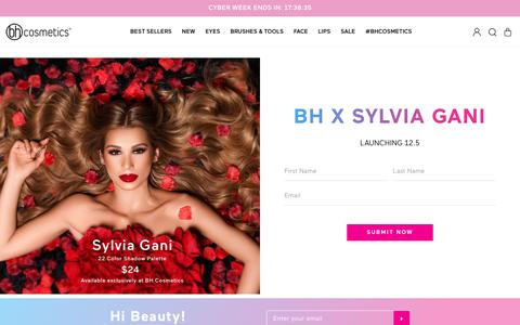 Screenshot of Signup Page bhcosmetics.com - Sylvia Sign Up Page                      – BH Cosmetics - captured Dec. 2, 2018