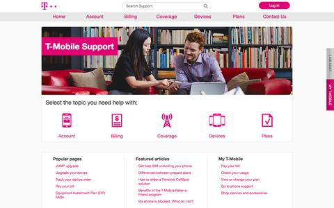 Welcome | T-Mobile Support
