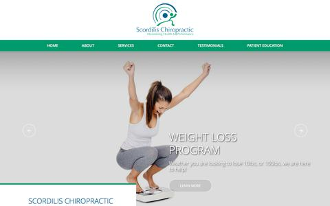 Screenshot of Home Page njultimatewellness.com - Scordilis Chiropractic | Top Rated Best Chiropractors in Clifton NJ 07013, Passaic County - captured Sept. 29, 2017