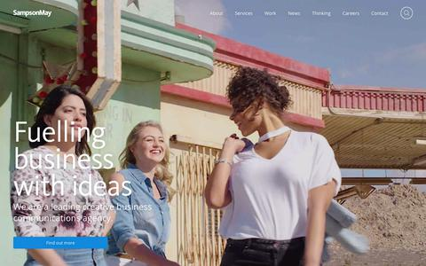 Screenshot of Home Page sampsonmay.com - SampsonMay Design – Brand, Digital, Strategy, Creative, Engagement, EVP, Annual Reports - captured Sept. 29, 2017