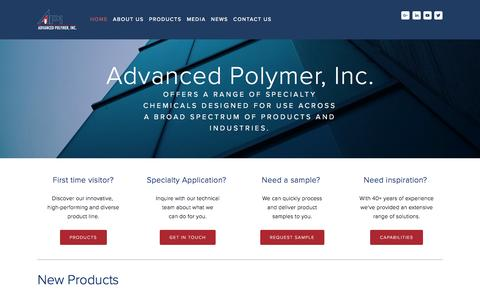 Screenshot of Home Page advpolymer.com - Advanced Polymer, Inc. - captured Nov. 20, 2016