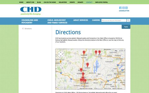 Screenshot of Maps & Directions Page chd.org - Directions | CHD - captured Oct. 2, 2014