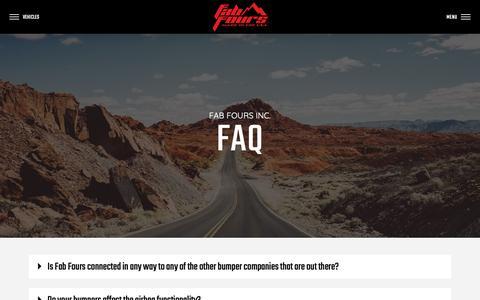 Screenshot of FAQ Page fabfours.com - FAQ | Fab Fours - captured March 6, 2019