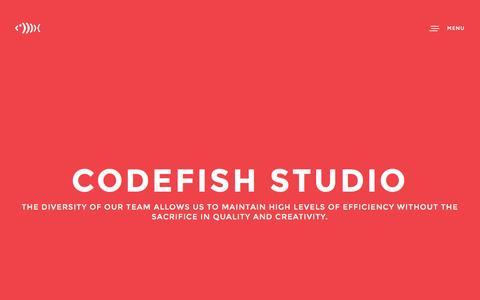 Screenshot of Home Page Menu Page codefishstudio.com - CODEFISH STUDIO - App and Website Development in Adelaide - captured Nov. 8, 2016