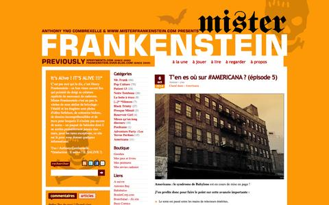 Screenshot of Home Page misterfrankenstein.com captured Oct. 7, 2014