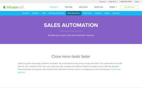 Sales Management & Automation Software | Infusionsoft