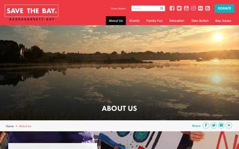 Screenshot of About Page savebay.org - About Us | Save The Bay - captured Nov. 12, 2018